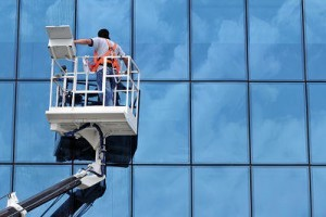Window Cleaner on Cherry Picker/Boom lift