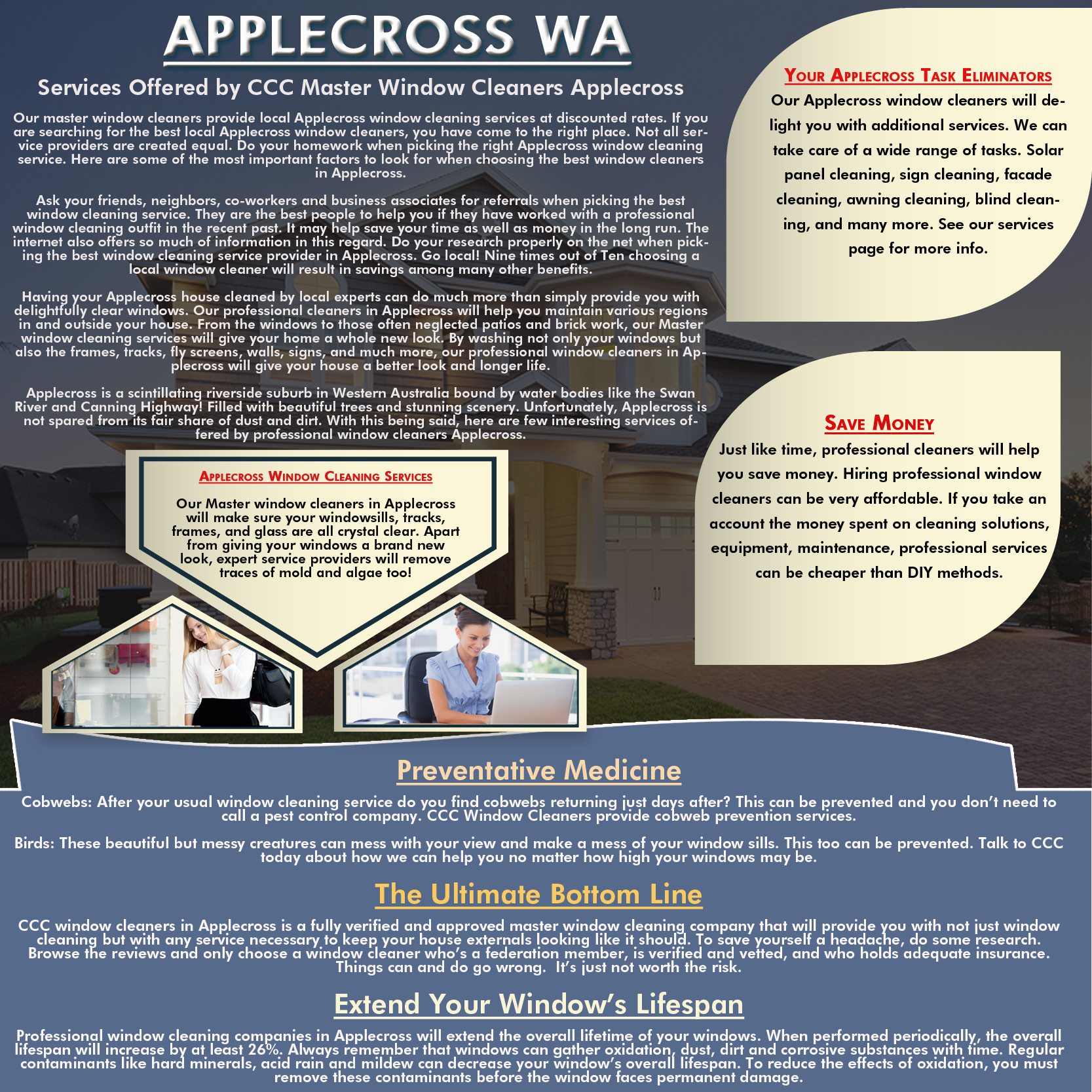 Our Applecross Window Cleaning Services