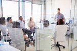 Business meeting - Office glass partitions