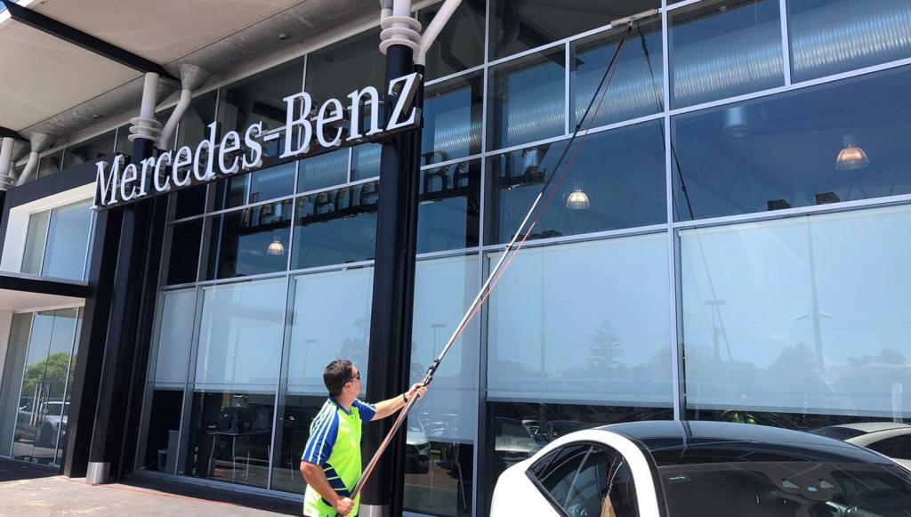 Window Cleaning at Perth Mercedes Benz