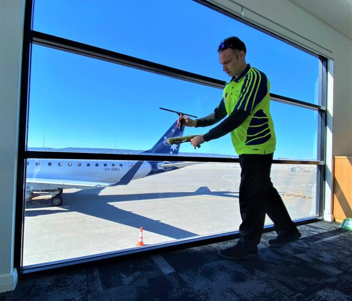 Window Cleaning in Perth at Airport