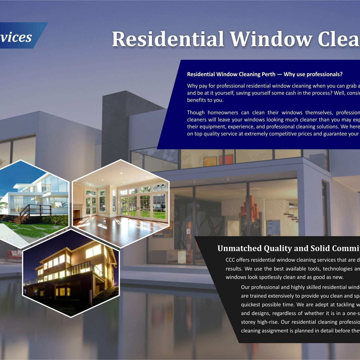 Residential Exterior Services: Residential Window Cleaning