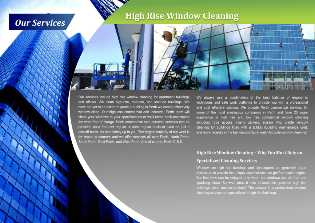 Our Services - High Rise Window Cleaning