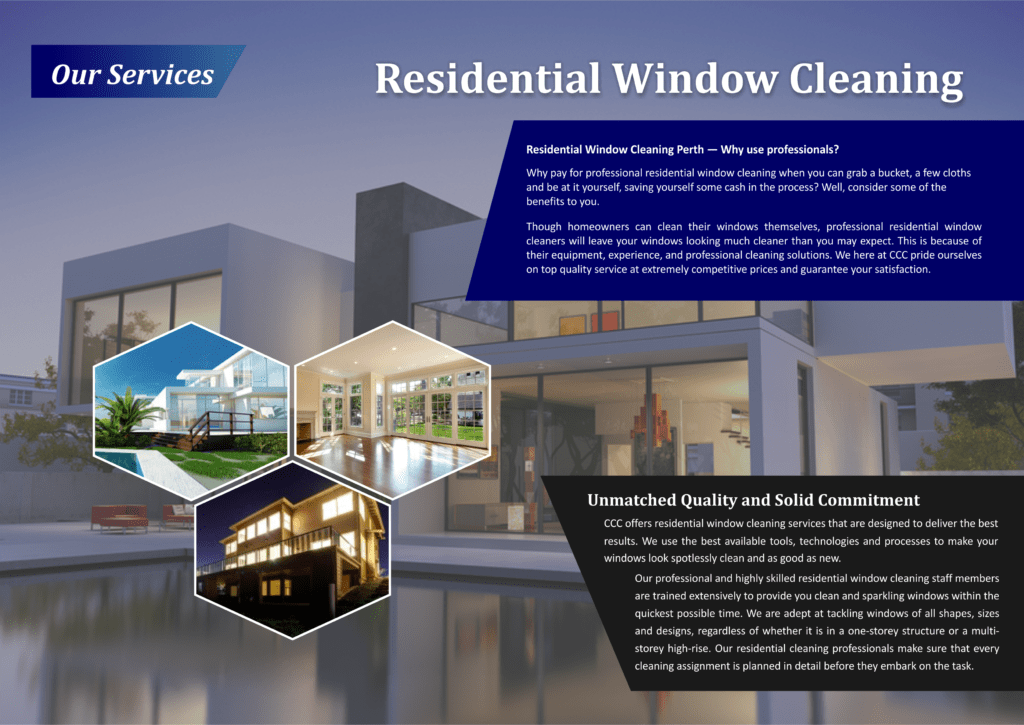 Our Services - Residential Window Cleaning