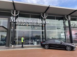 window cleaning at Mercedes in Perth