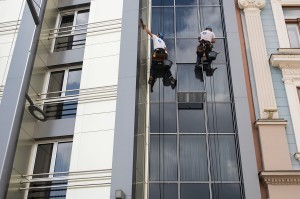 window cleaning rope access technicians
